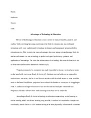 essay on technology in the education sector