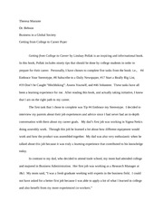 Getting From College to Career Essay