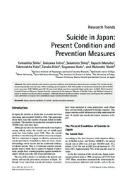 Shiho et al's Suicide in Japan-Present Condition and Prevention Measures