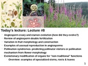 Plant Diversity Lecture 8 (Angiosperm Reproduction and Fruit Architecture)-111214
