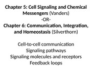 ch.5 Cell Signaling and Chemical Messaging