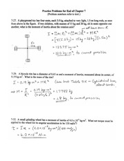 College Physics 1 Practice Problem solution ch 7