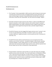 The financial crisis and business cycle money and banking econ lecture notes
