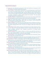 Study Guide part 1 History 270 examp 2.docx