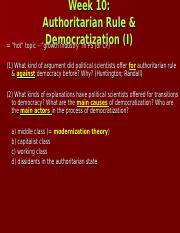 Week 10 (Democratization I)(IVLE)b