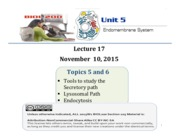 Lecture17_SecretionLysosomeEndocytosis_Posted_Nov7th2015