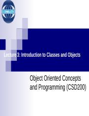 4 OOP Lecture 3_Intro to Classes & Objects.ppt