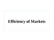 Efficiency+of+Markets