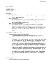 Essay 4 Outline