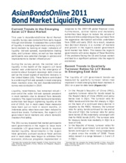 ADB - Bond Market Liquidity Survey 2011