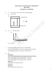 Tutorial V (Answer)- Organic Chemistry