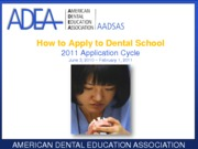 85170_How to Apply to Dental School20111