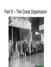 Part 9 – The Great Depression.ppt