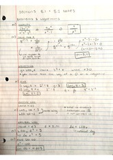 Exponents and Logarithms Notes