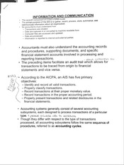 ACTG 320 Information and Communication Notes