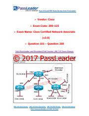 2017 PassLeader 200-125 Dumps with VCE and PDF (Question 101 - Question 200)