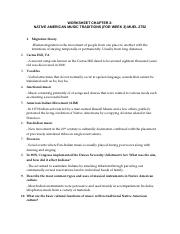 Worksheet #2 (for week 3)