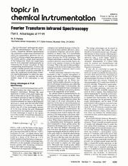 W. D. Perkins. (November 1987). Fourier Transform Infrared Spectroscopy Part II. Advantages of FT-IR