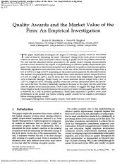 Quality Awards and the Market Value of the Firm - An Empirical Investigation.pdf