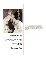 Benjamin Franklin and Women Paper History Class (1)