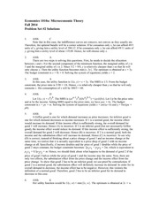 ECON1010a Fall 2014 Solutions to Pset 2