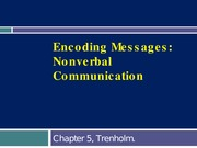 Ch.5 Nonverbal communication