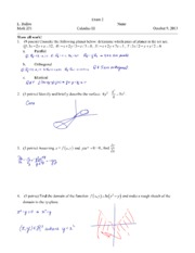 Exam 2 Fall 2013 Solutions