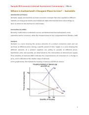 Sample IB Economics Internal Assessment Commentary - Micro (1)