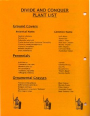 Divide and Conquer Plant List