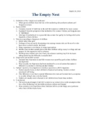 essay on empty nest syndrome