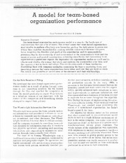 A Model for Team-Based Organization Performance
