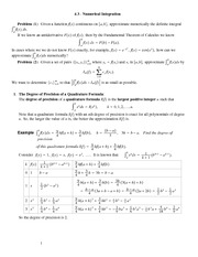 Lecture Notes on Numerical Integration