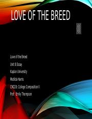 Love of the Breed finished.pptx