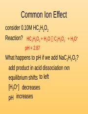 1- Common Ion and H-H Eqn