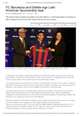 FC Barcelona and Gillette sign Latin American Sponsorship deal _ FC Barcelona