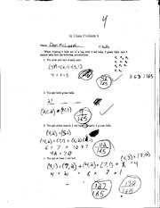 Class problem 6 solutions