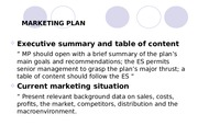MARKETING PLAN THEORY