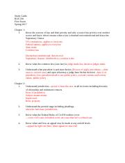 Bus; Study Guide for First Exam.docx