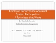 employee performance appraisal system participation