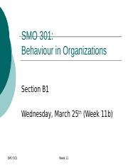 SMO301 Week 11b (posted ulearn)