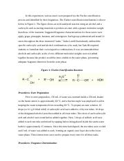 CHEM 238 - Exp. 8: Carboxylic Acids and Esters