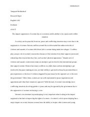 Reasearch Paper for English 1102