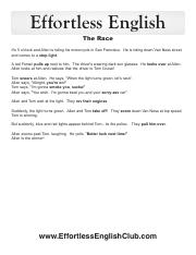 The Race Text