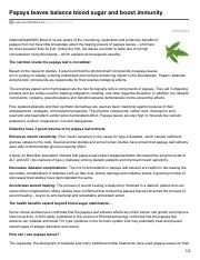 naturalhealth365.com-Papaya leaves balance blood sugar and boost immunity