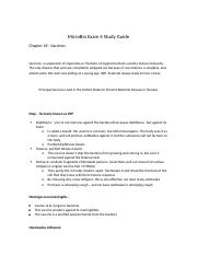 MicroBiology Exam 4 Study Guide
