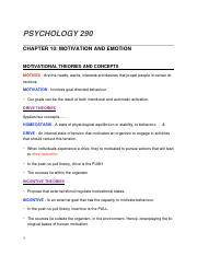 PSYCH290- CH10 - MOTIVATION AND EMOTION.docx
