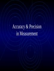 Accuracy & Precision detailed notes presentation
