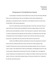 Entrepreneurs VS Small-Business Owners.docx