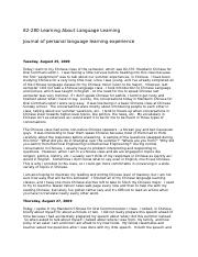 82-280 Learning About Language Learning journal