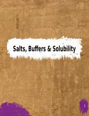 9) Salts, Buffers, Titrations and Solubility